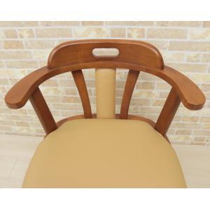 アウトレット ダイニングチェア キャスター付き 回転椅子 morut-ch-360 肘付 1脚セット 木製 アーム  ライトブラウン ミドルブラウン ワイド 取っ手 161|takara21|06