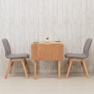 ダイニングテーブルセット 3点セット 伸縮式 90/60cm mt90bata-3-pani339naok 2人用 ダイニングセット ナチュラルオーク色/NA-OAK LGE色 お客様組立品 10s-3k so|takara21