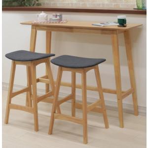 カウンターテーブルセット 幅120cm 高さ92cm pani120hi-366-339okdgy ナチュラルオーク色 木製 アウトレット 4s-2k hg|takara21
