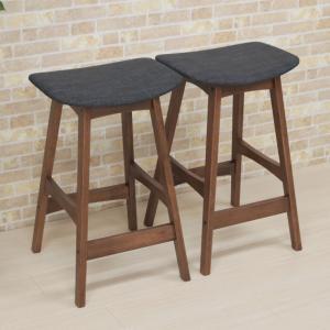 2脚 カウンタースツール 66cm pani66-bs-339wndgy ウォールナット色 ブラウン 木製 組立品 アウトレット 1s-1k-143 hg|takara21