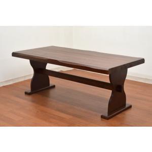 ダイニングテーブル 180cm 北欧パイン ブラウン色 pet-368  うずくり カントリー 6人用 机 161|takara21