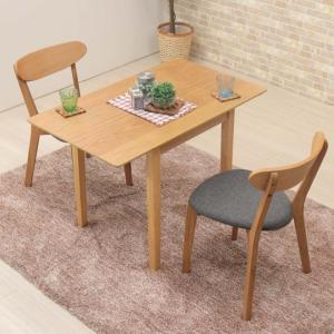 ダイニングテーブルセット 60/80/100cm wdl100bata-3-cote351okfab ナチュラルオーク色 ファブリック 両バタフライ 木製 伸縮式 アウトレット 6s-2k hg|takara21