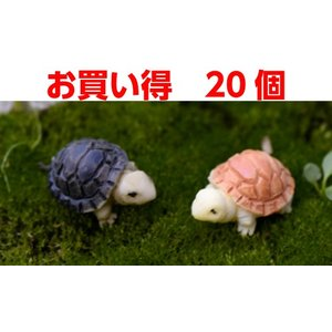 お買い得 20個 2色海亀 さかな アクアテラリウム テラリウム 水槽 テラリウムフィギュア ミニフィギュア テラリウムキット 箱庭|takara77