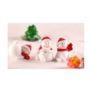 クリスマス 雪だるま 8タイプ テラリウムフィギュア 動物 ミニチュア ミニフィギュア ジオラマ 苔テラリウム