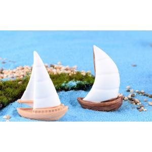 6タイプ白いボート 船 建物 テラリウムフィギュア ミニフィギュア  ミニチュア ジオラマコレクション コケリウム イベント|takara77