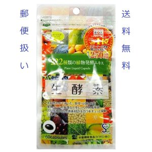 (即納・送料無料・郵便扱い・代引不可)ジプソフィラ 生酵素 222種類の植物発酵エキス 60粒