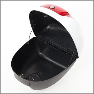 リアボックス トップケース バイク ホワイト 白 28L 簡単装着|takarabune|04