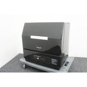 美品 Panasonic パナソニック 食器洗い乾燥機 プチ食洗 ECONAVI エコナビ NP-TCR1-CK 【佐川急便160サイズ】