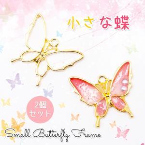 小さな蝶フレーム【メール便対応】バタフライ ちょうちょ 空枠 レジン用フレーム |takaranail
