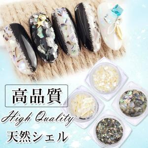 【メール便対応】高品質 ナチュラルシェルフレーク 4種 シェルパーツ 自然の貝|takaranail