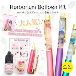 ハーバリウムペン 金 手作りキット ハーバリウム用ボールペン 【メール便送料無料】 ハーバリウム  ハーバリューム  ハンドメイドペン 手作り|takaranail