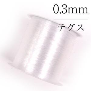 テグス 徳用 手芸用 アクセサリー製作用 0.3mm 水晶の線 takaranail