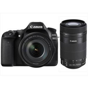 キヤノン Canon EOS 80D EF-S 18-135mm EF-S 55-250mm 望遠ダ...