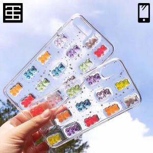 iPhone Design Case Bear Gummy iPhoneケース ベアー グミ 熊 ク...