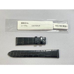C007024J9 SEIKO グランドセイコー 18mm 純正革ベルト クロコダイル ブラック SBGW047/9S64-00G0他用 ネコポス送料無料|takayama-watch