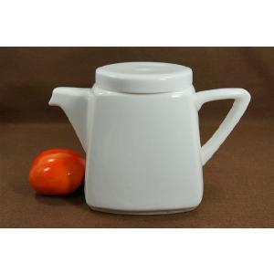 850cc 大きめポット※茶こしなし  ホワイト/シンプル/白い食器/急須/ポット/茶器/|takayama