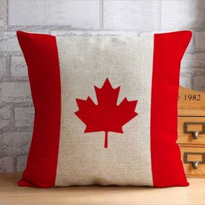 送料無料 BZT001  北欧 カナダ 国旗 クッションカバー 花柄  45cm×45cm 結婚祝い 新築祝い クッションカバー |takayama