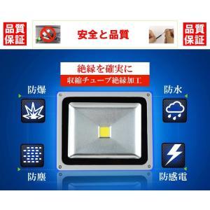 薄型LED投光器 屋外 3mコード プラグ付 20W 200W相当 防水 LEDライト 作業灯 集魚灯 防犯 駐車場灯 看板照明  昼光色 一年保証|takayama|02