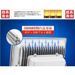薄型LED投光器 屋外 3mコード プラグ付 20W 200W相当 防水 LEDライト 作業灯 集魚灯 防犯 駐車場灯 看板照明  昼光色 一年保証|takayama|05
