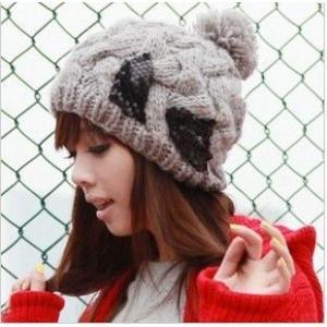 送料無料 MZ806 2色選択可 かわいい ニット帽子 防寒  秋冬メンズレディース |takayama