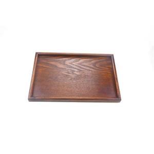 木製トレー 22.5cm*15.2cm*2.0cm  7寸5分 ブラウン 黒 トレイ/天然木/お茶/長角膳 再入荷 大人気 |takayama