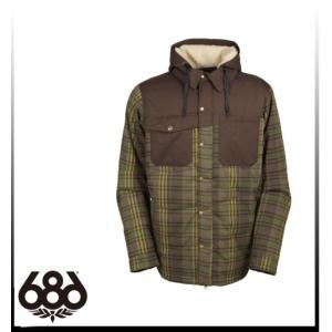 【SALE】【686】シックスエイトシックス Authentic Woodland Insulated Jacket TOBACCO YARN-DYE PLAID ジャケットメンズ|take88