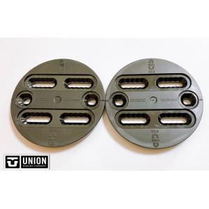 【UNION】ユニオン スペアーパーツ ディスク 黒 2x4、 4x4、EST バートン可能 take88