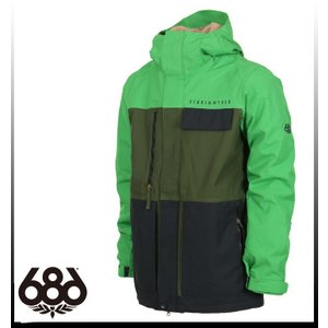 【SALE】【686】シックスエイトシックス Authentic Smarty Form Jacket Green Colorblock ジャケットメンズ|take88