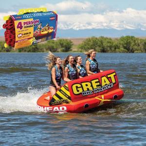 SPORTSSTUFF GREAT BIG MABLE 4人乗り グレート ビッグ マーブル トーイングチューブ/ウォータートーイ/バナナボート/スポーツスタッフ 53-2218/ロープセット|take88