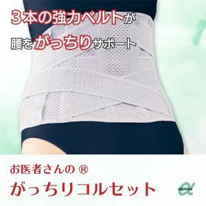 腰椎サポーター 介護用品 腰痛 アルファックス お医者さんのがっちりコルセット S-M〜LL-3L|takecare-delivery