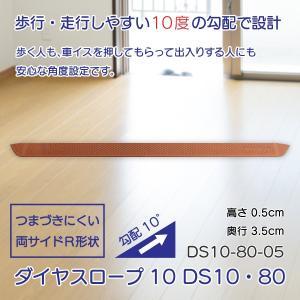 スロープ 段差解消 介護用品 住宅 すべり止め ダイヤスロープ10 DS10・80シリーズ DS10-80-05 takecare-delivery