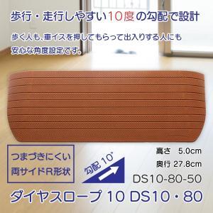スロープ 段差解消 介護用品 住宅 すべり止め ダイヤスロープ10 DS10・80シリーズ DS10-80-50 takecare-delivery