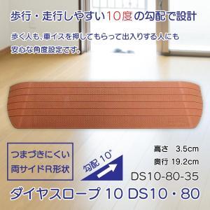 スロープ 段差解消 介護用品 住宅 すべり止め ダイヤスロープ10 DS10・80シリーズ DS10-80-35 takecare-delivery