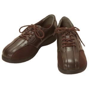 介護靴-外出用 ラポーターL800ST ダークブラウン 24.5cm 4E 女性用 在庫処分品 takecare-delivery