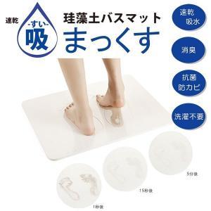 珪藻土バスマット 「吸まっくす」 バスマット KSB01-WH|takeden-toshi