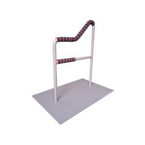 立つ之助 和 立ち上がり補助手すり 握る場所が3ヶ所 布団 座椅子 など スチール素材 ライトブラウン 日本製|takei-co