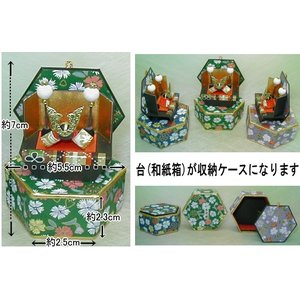 六角収納兜  コンパクトな五月人形飾り(出世兜)ミニチュア|takenomise|05
