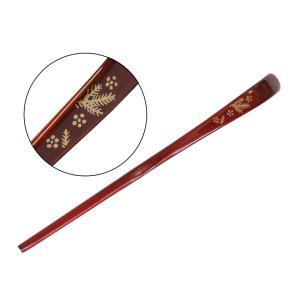 竹の塗り茶杓(箱入り)  柄:松竹梅 takenomise