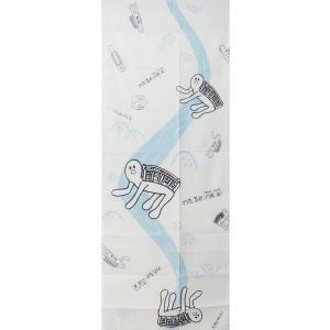 京友禅染め手拭い 「川の流れと月橋 渡(つきはし わたる)」 京都・嵐山商店街公式キャラクター takenomise
