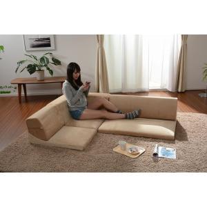 送料無料 コーナー3点ローソファセット IORI 「和楽の庵」|takeoshop