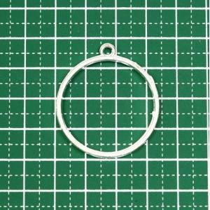 UNATA. レジン枠 空枠 丸 サークル 15個 / 30個 シルバー 銀色 uvクラフト ハンドメイド材料 アクセサリー レジン パーツ|takes-shop
