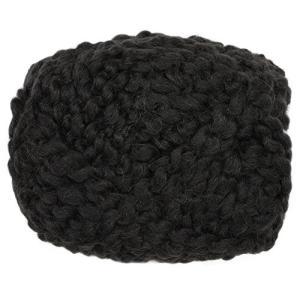 ハマナカ リアル羊毛フェルト 植毛カール 30g アイボリーブラック H440-005-526