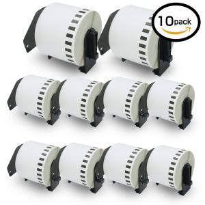 10巻セット ラベル (62mm x 30.48m) ブラザー工業 Brother 互換 DK-4205 再剥離(弱粘着タイプ) 感熱ラベル|takes-shop
