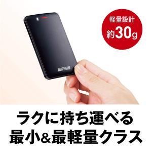 BUFFALO USB3.1(Gen1) 手のひらサイズ 小型ポータブルSSD 120GB ブラック SSD-PM120U3-B/N takes-shop
