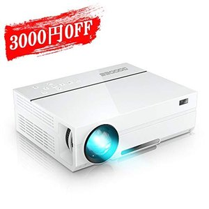 GooDee プロジェクター 1920*1080リアル解像度 4000ルーメン 2019年アップグレード版 自動台形補正 ネイティブ 108|takes-shop