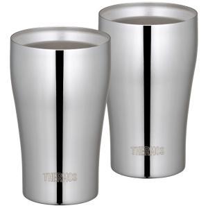 サーモス 真空断熱タンブラー2個セット 320ml ステンレスミラー JCY-320GP1 SM