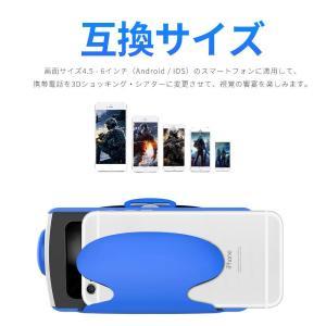 Masmrie 3D VRゴーグル iphone5/6/7 plus 4.5-6インチのスマホ対応 3Dメガネ 焦点距離調節 ゲームVR 大|takes-shop