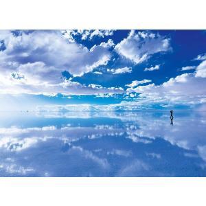500ピース ジグソーパズル めざせ パズルの達人 世界の絶景 天空の鏡ウユニ塩湖-ボリビア (38x53cm)|takes-shop