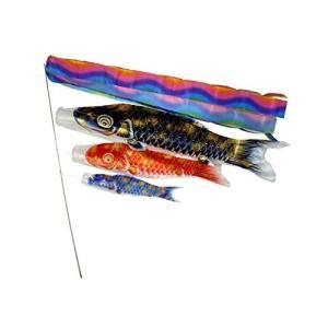 Angelaicos 鯉のぼり 1.5m アルミ金箔 五点セット 端午の節句 初節句 出産祝い 子供の日祝い お庭用 ベランダ用 両用 飾り|takes-shop