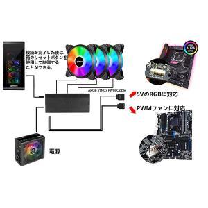 Novonest 120mm 5V PCケースファン RGB虹色 LEDリング搭載 静音タイプ 25mm厚 3本1セット (RGB12MM-|takes-shop